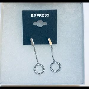 Express silver earring new never word